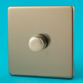 Varilight 1 Gang 1 or 2 Way 400W Push on/off Dimmer Light Switch Screwless Satin HDN3S